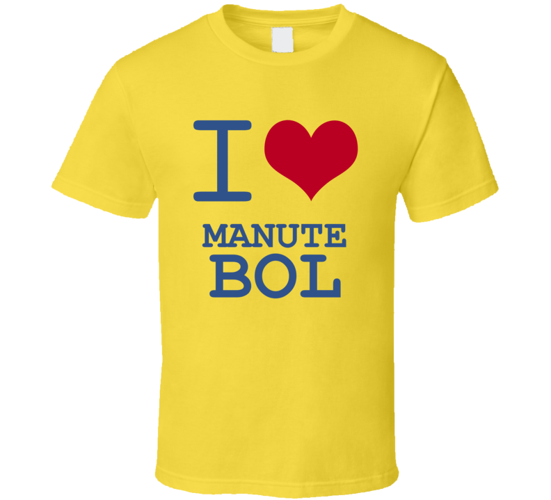 Manute Bol California I Love Heart Basketball Hockey Baseball Football T Shirt