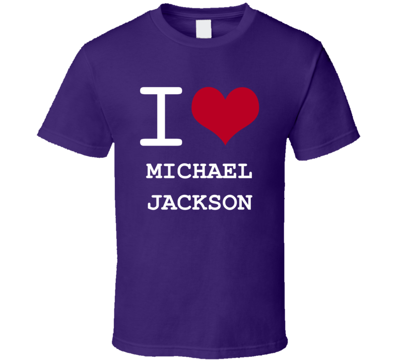 Michael Jackson California I Love Heart Basketball Hockey Baseball Football T Shirt