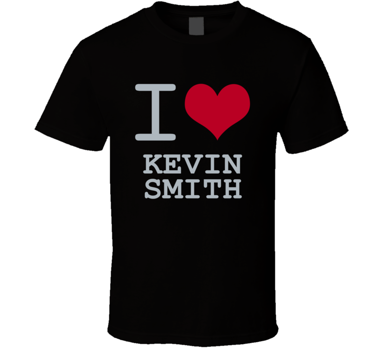 Kevin Smith I Love Heart Basketball Hockey Baseball Football T Shirt