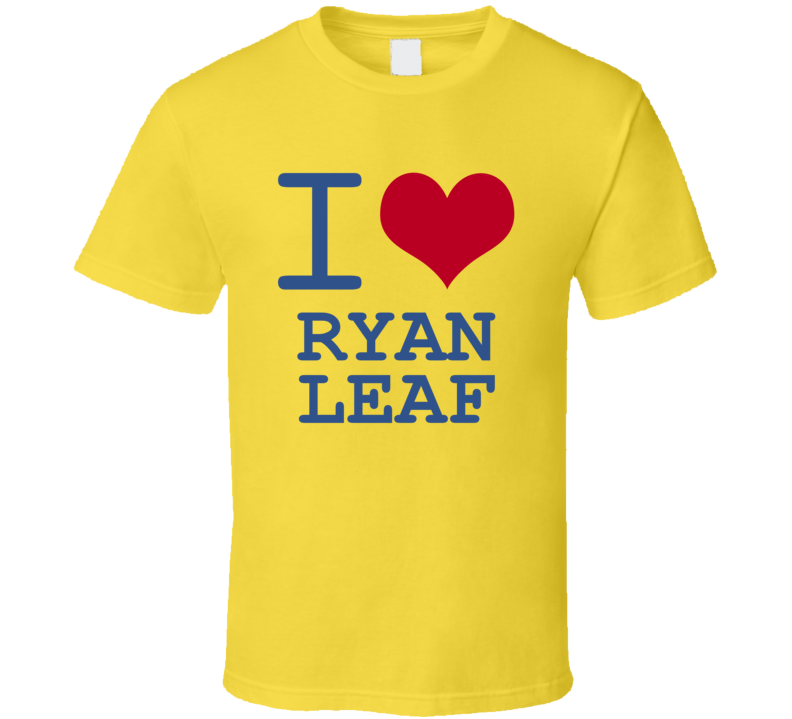 Ryan Leaf California I Love Heart Basketball Hockey Baseball Football T Shirt