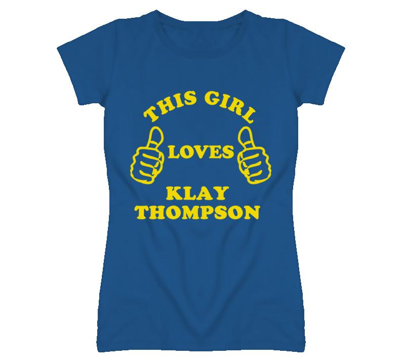 Klay Thompson This Girl Loves Basketball Hockey Baseball Football T Shirt