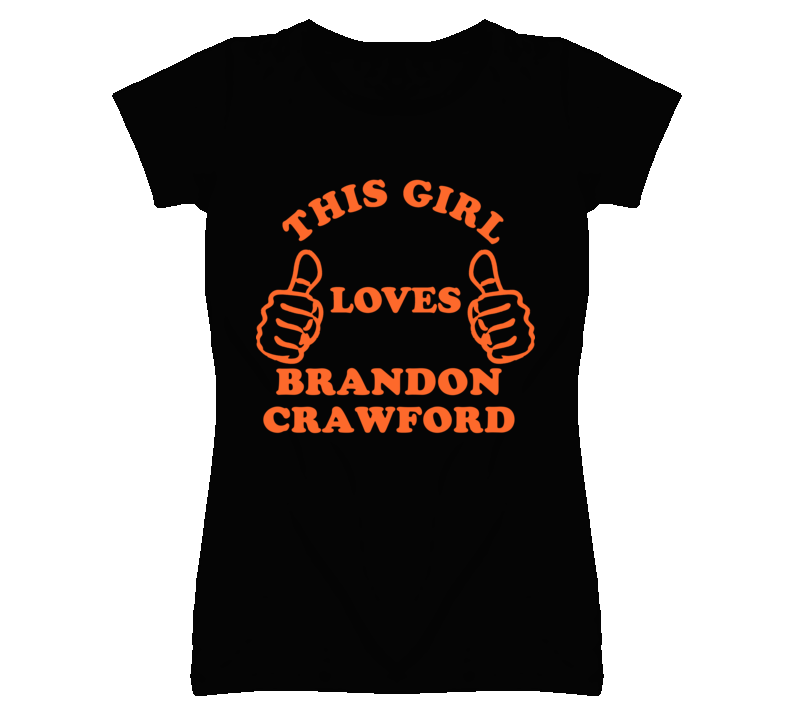 Brandon Crawford This Girl Loves Basketball Hockey Baseball Football T Shirt
