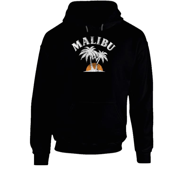 Malibu Rum Cocktail Party Drinking California Beach Alcohol Logo Hoodie