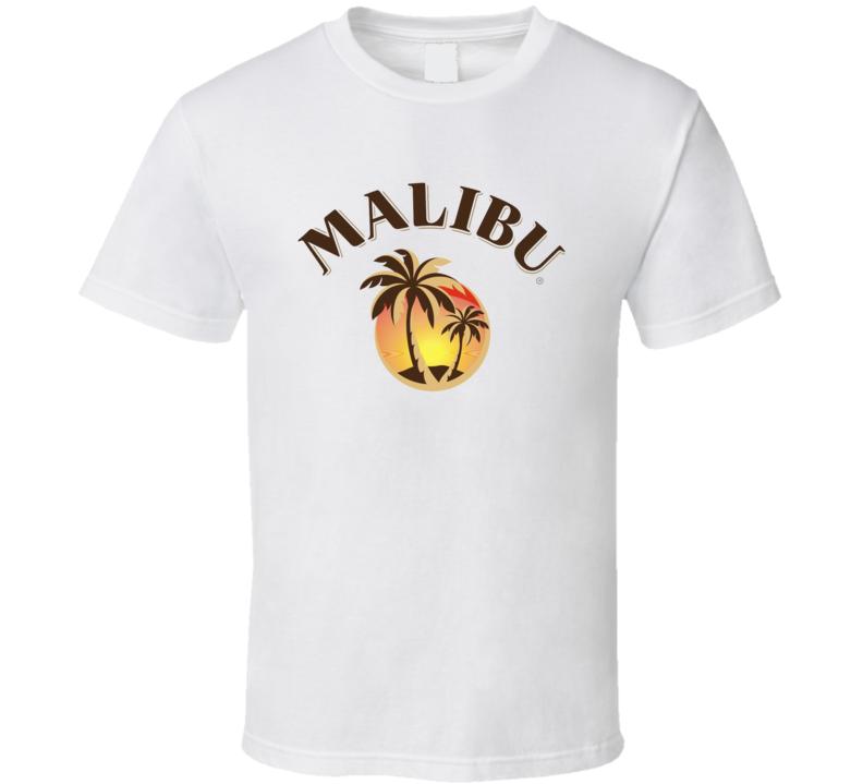 Malibu Rum Cocktail Party Drinking California Beach Alcohol Logo Fan T Shirt