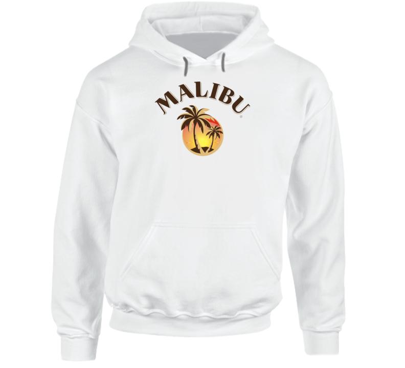 Malibu Rum Cocktail Party Drinking California Beach Alcohol Logo Fan Hoodie