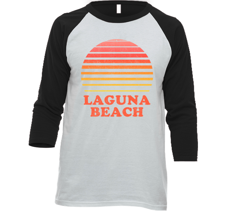 Laguna Beach California City Beach Vacation Sunset Summer Love Roadtrip Baseball Raglan