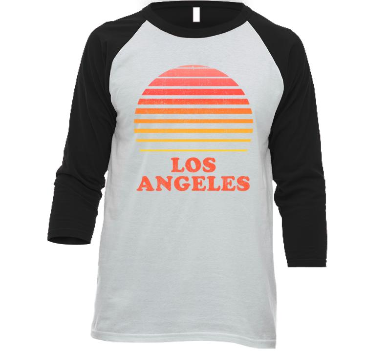 Los Angeles California City Beach Vacation Sunset Summer Love Roadtrip Baseball Raglan