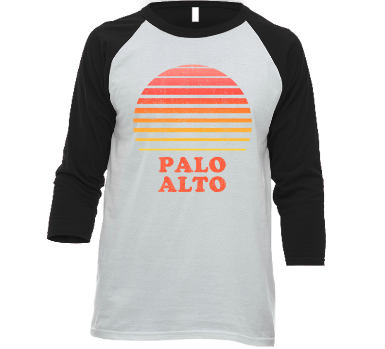 Palo Alto California City Beach Vacation Sunset Summer Love Roadtrip Baseball Raglan