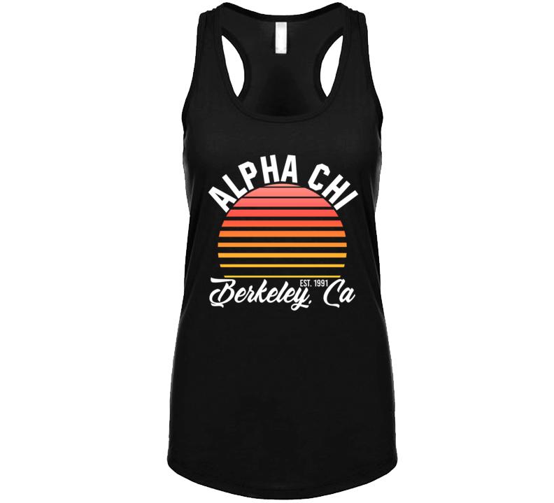 Alpha Chi Berkely California University College Sorority House Ladies Tanktop