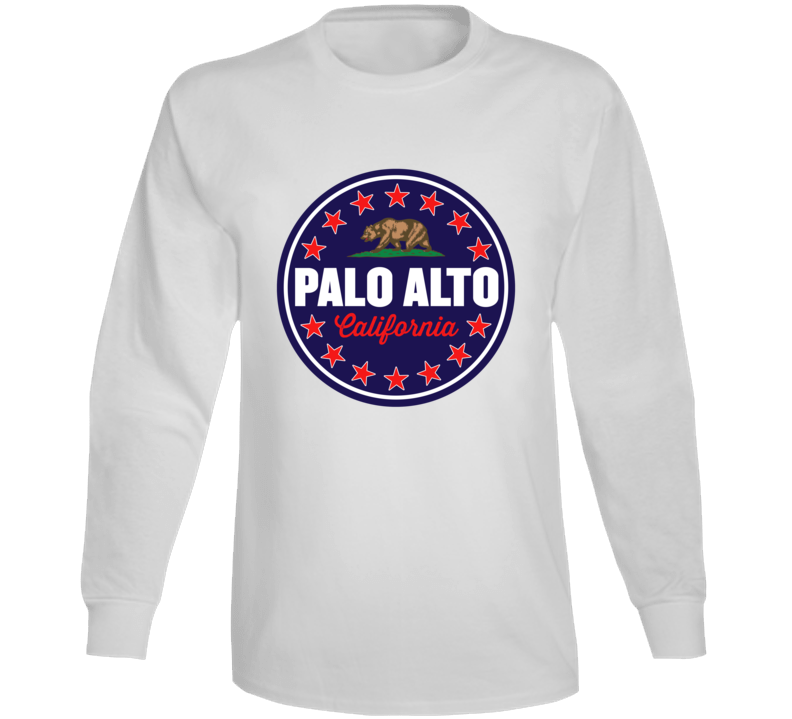 Palo Alto California State City Seal Crest Inspired Patriotic Long Sleeve T Shirt