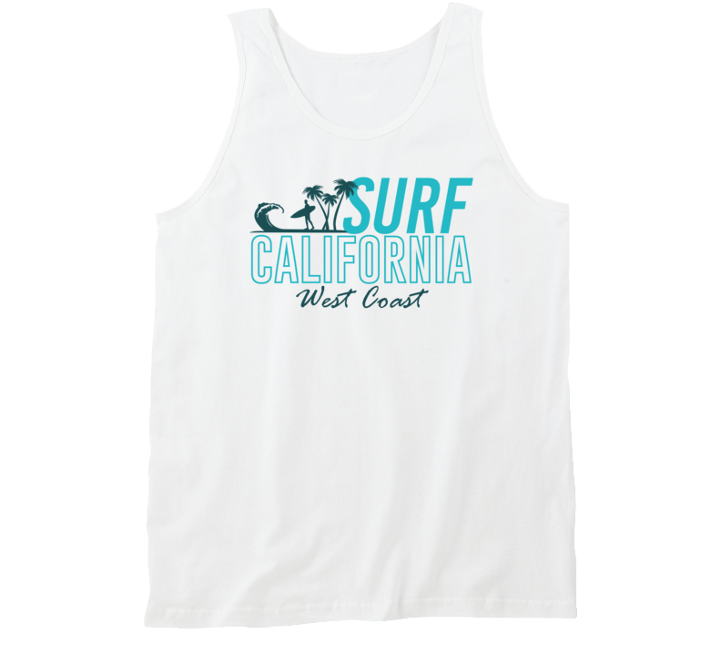 Surf California West Coast Surfer Travel Beach Ocean Road Trip Tanktop