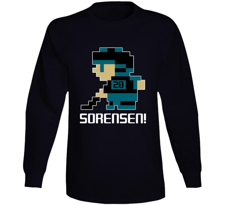 Marcus Sorensen #20 Tecmo Player San Jose Hockey Fan Long Sleeve Shirt
