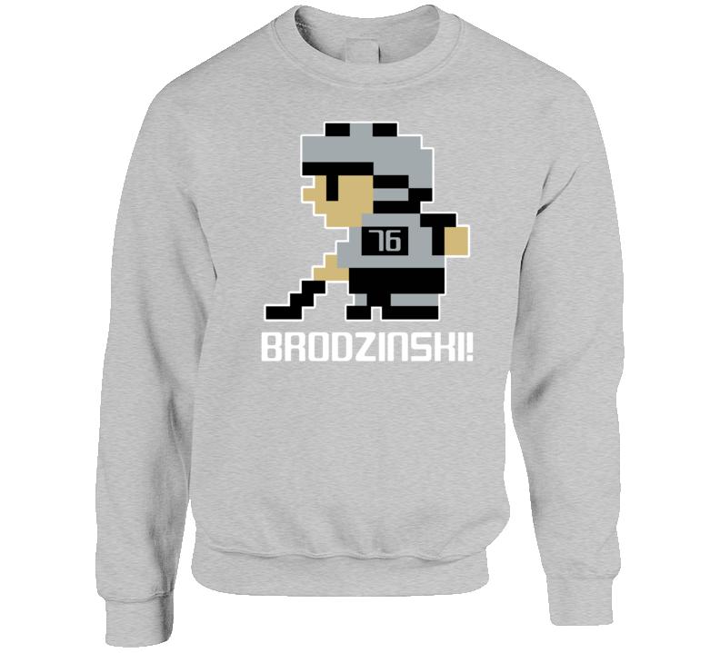 Jonny Brodzinski #76 Tecmo Player Los Angeles Hockey Fan Crewneck Sweatshirt