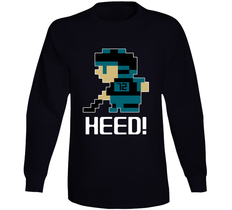 Tim Heed #72 Tecmo Player San Jose Hockey Fan Long Sleeve Shirt