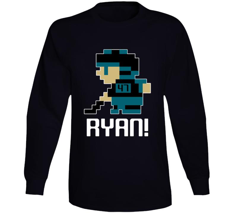 Joakim Ryan #47 Tecmo Player San Jose Hockey Fan Long Sleeve Shirt