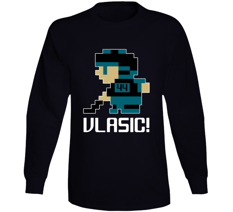 Marc-edouard Vlasic #44 Tecmo Player San Jose Hockey Fan Long Sleeve Shirt