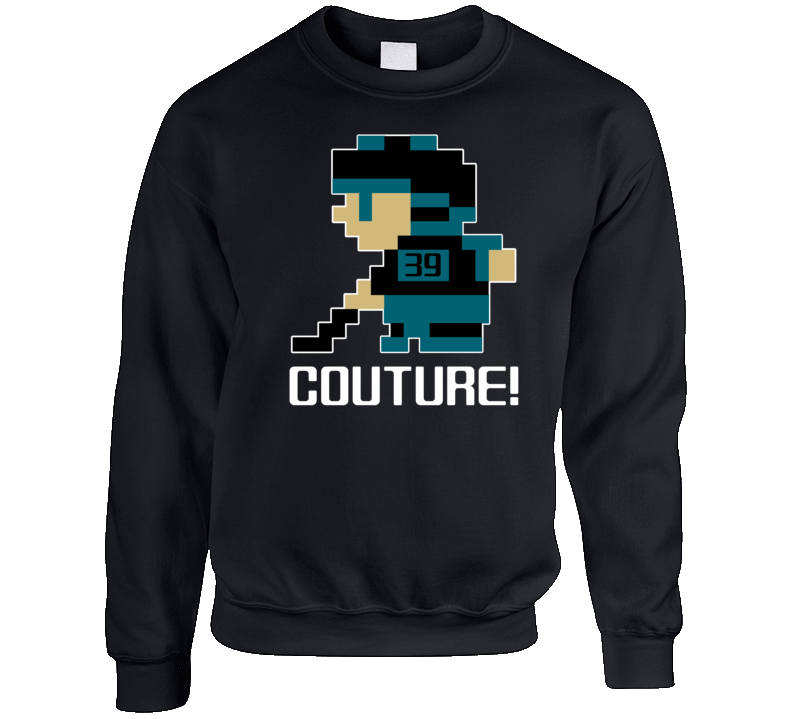 Logan Couture #39 Tecmo Player San Jose Hockey Fan Crewneck Sweatshirt