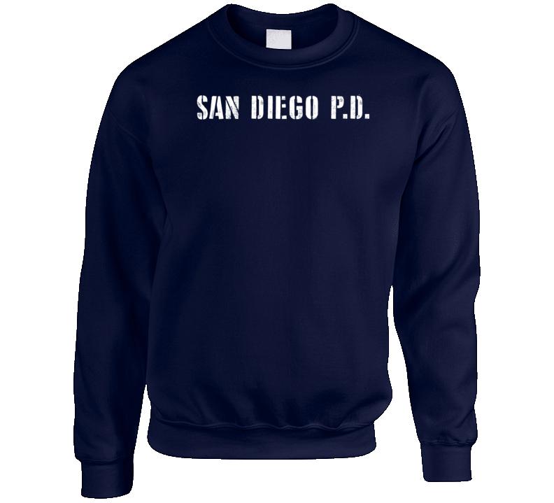 Sdpd San Diego Police Dept Movie Tv Show Inspired Crewneck Sweatshirt T Shirt