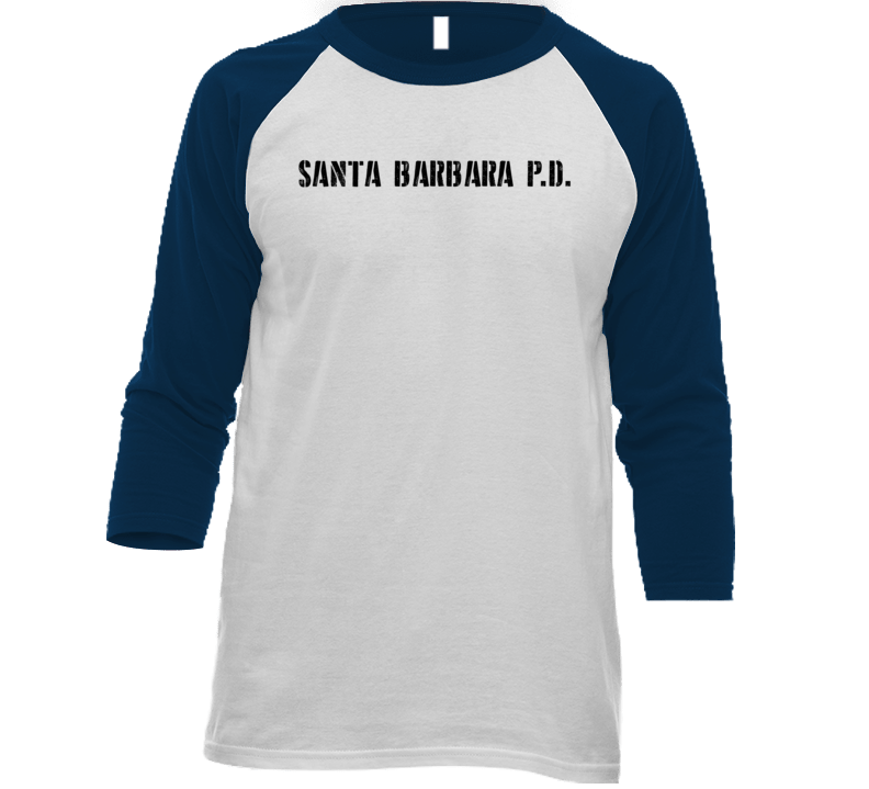 Sbpd Santa Barbara Police Dept Movie Tv Show Inspired Raglan T Shirt
