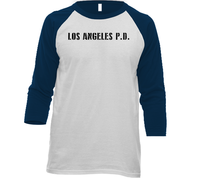 Lapd Los Angeles Police Dept Movie Tv Show Inspired Raglan T Shirt