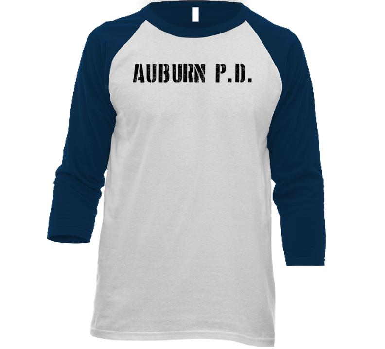 Apd Auburn Police Dept Movie Tv Show Inspired Raglan T Shirt