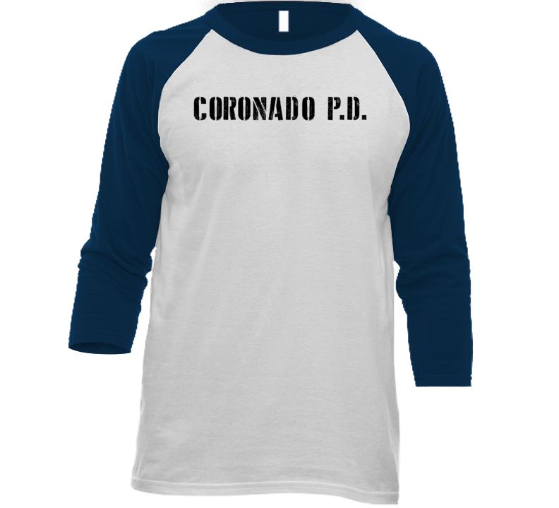 Cpd Coronado Police Dept Movie Tv Show Inspired Raglan T Shirt