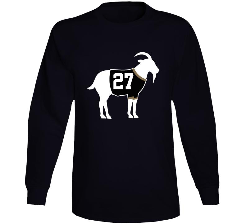 Scott Niedermayer Goat Greatest Of All Time Anaheim Hockey Player Fan Long Sleeve Shirt