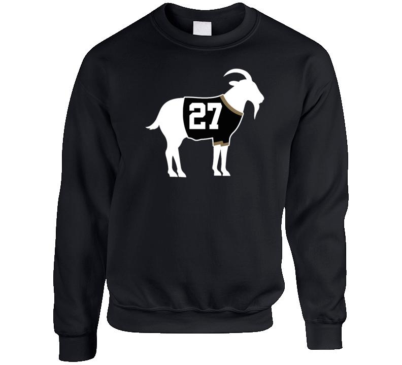 Scott Niedermayer Goat Greatest Of All Time Anaheim Hockey Player Fan Crewneck Sweatshirt