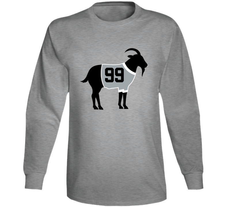 Wayne Gretzky Goat Greatest Of All Time Los Angeles Hockey Player Fan Long Sleeve Shirt