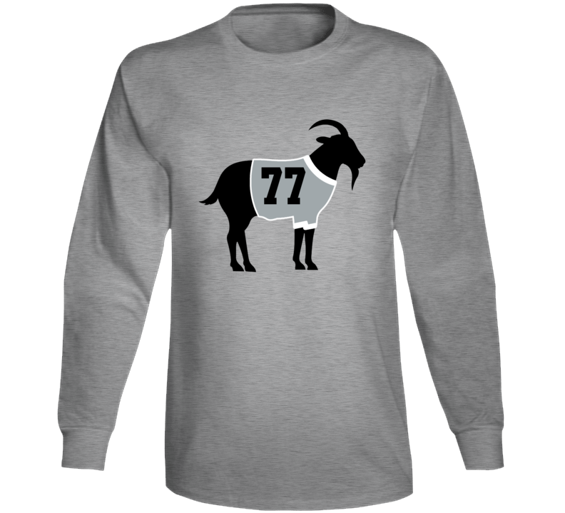 Jeff Carter Goat Greatest Of All Time Los Angeles Hockey Player Fan Long Sleeve Shirt