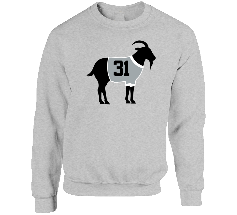 Grant Fuhr Goat Greatest Of All Time Los Angeles Hockey Player Fan Crewneck Sweatshirt