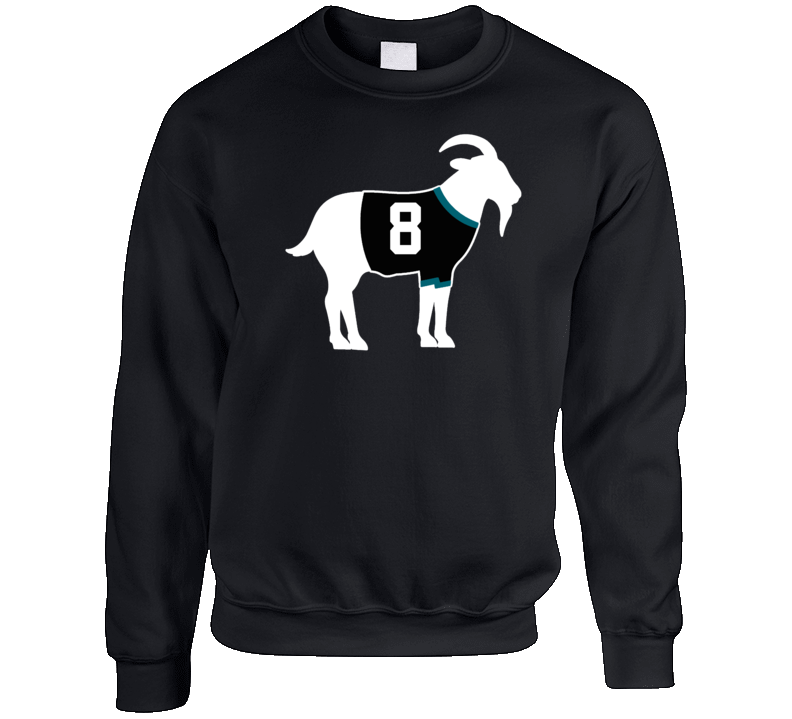 Teemu Selanne Goat Greatest Of All Time San Jose Hockey Player Fan Crewneck Sweatshirt