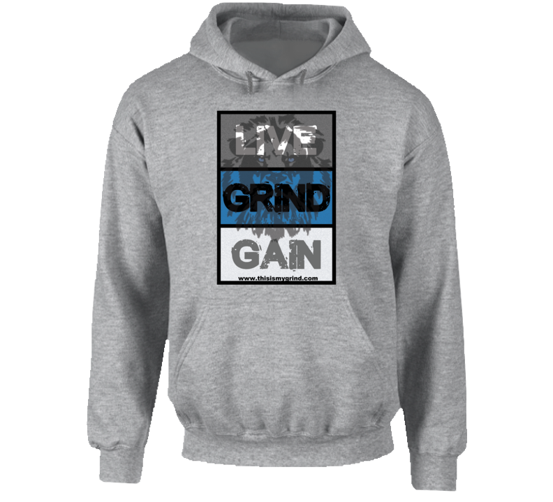 Live Grind Gain- Lion Hoodie