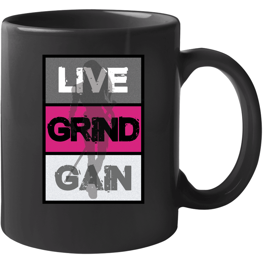 Live Grind Gain- Woman Warrior Mug