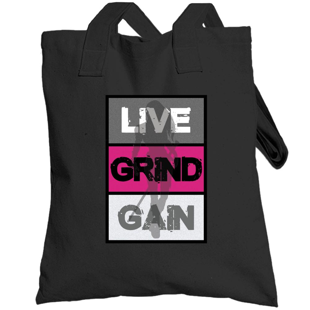 Live Grind Gain- Woman Warrior Totebag