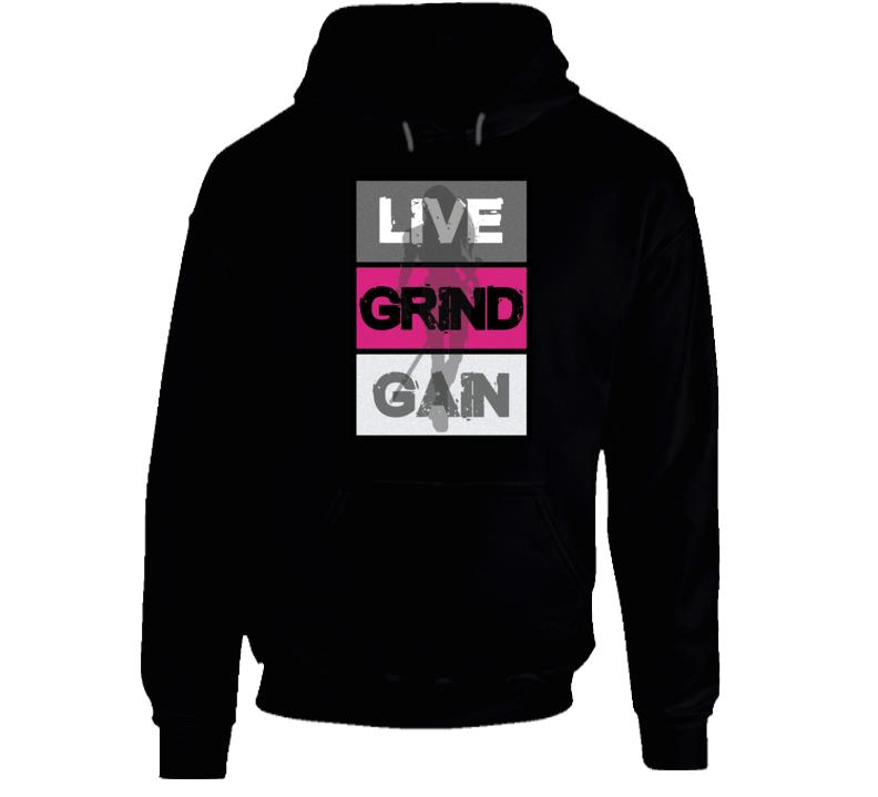 Live Grind Gain- Woman Warrior Hoodie