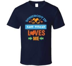 East Vulcan Michigan Somebody Loves Me Heart T Shirt