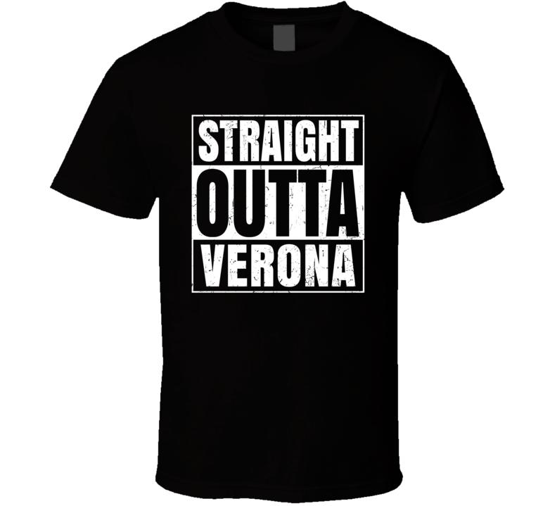 Straight Outta Verona Michigan City County Compton Parody T Shirt