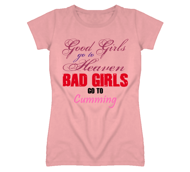 Cumming Michigan Good Girl Heaven Bad Girl T Shirt
