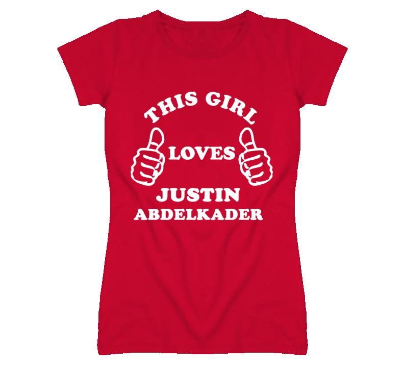 Justin Abdelkader Detroit Michigan Hockeytown This Girl Loves T shirt