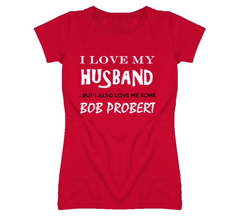 Bob Probert Detroit Michigan HockeyTown Run Jog Love Funny T shirt