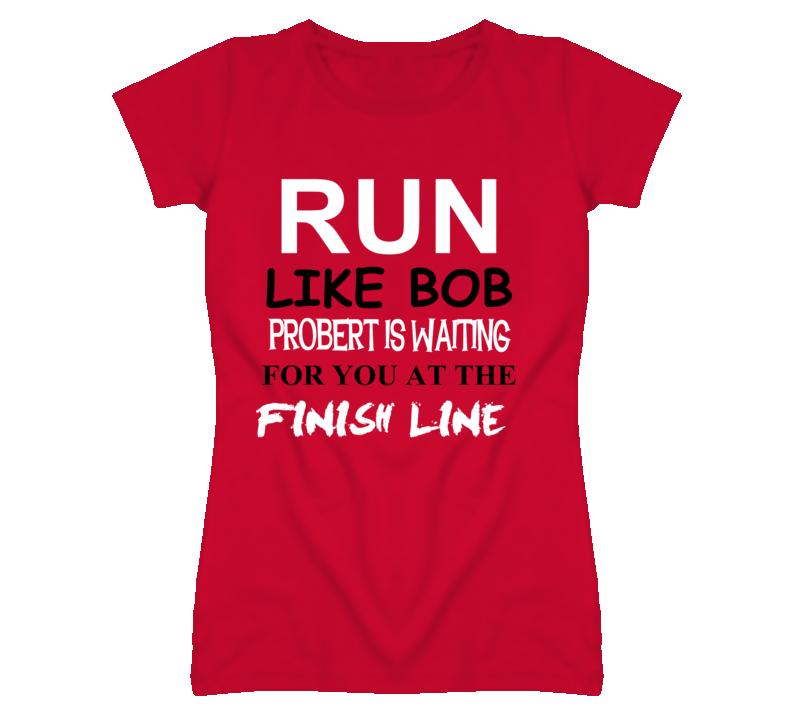 Bob Probert Detroit Michigan Hockeytown Run Jog Funny T shirt