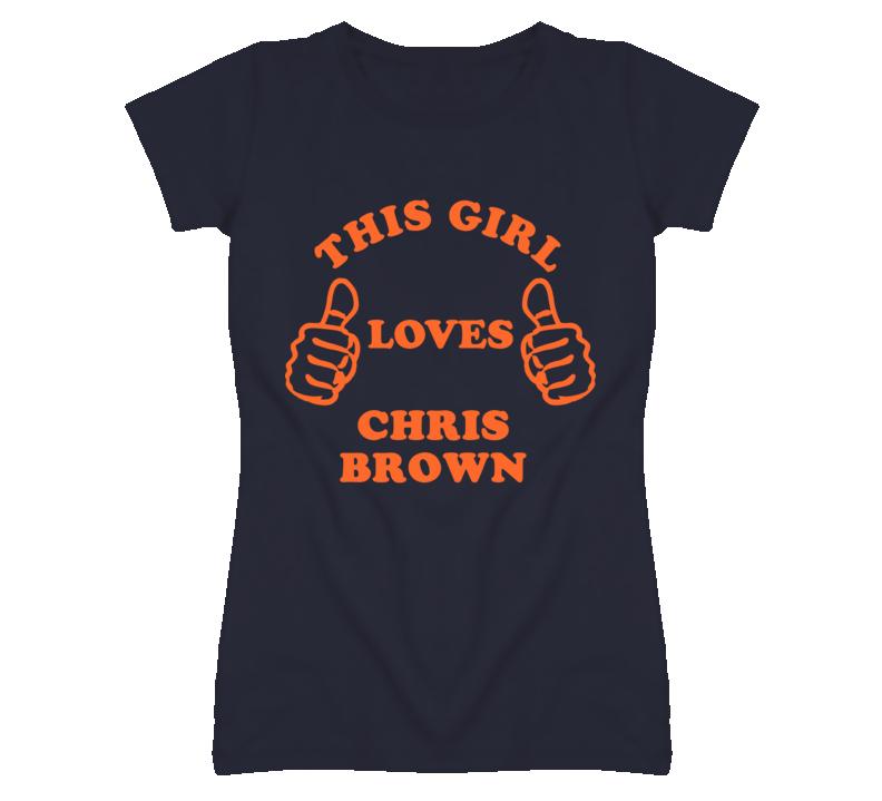 Chris Brown Detroit Michigan Baseball This Girl Loves T shirt