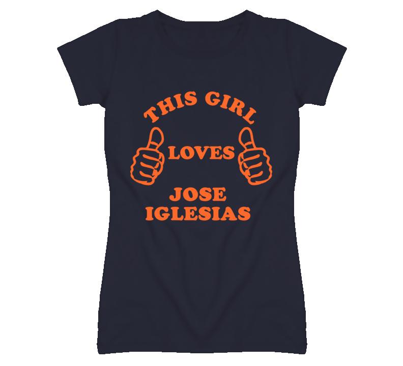 Jose Iglesias Detroit Michigan Baseball This Girl Loves T shirt