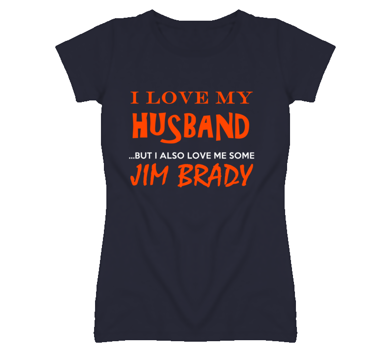 Jim Brady Detroit Michigan Baseball I Heart Love T shirt