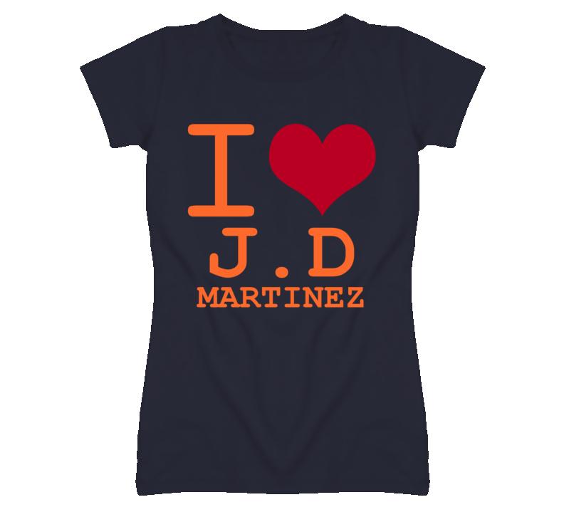 J D Martinez Detroit Michigan Baseball I Love Heart T shirt