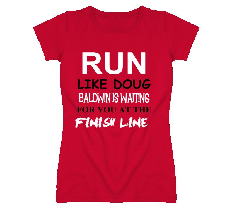 Doug Baldwin Detroit Michigan Hockeytown Run Jog Funny T shirt