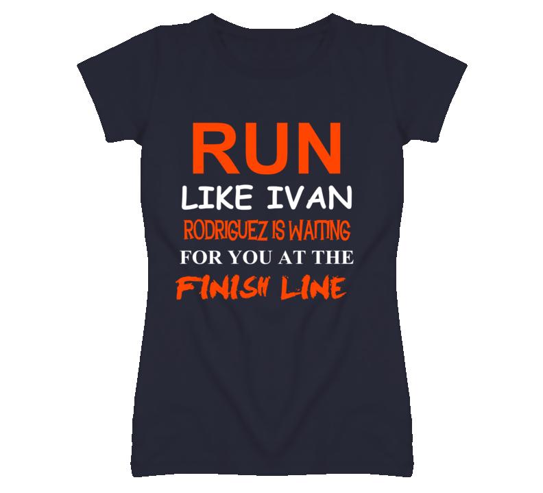 Ivan Rodriguez Detroit Michigan Baseball Run Inspiration T shirt
