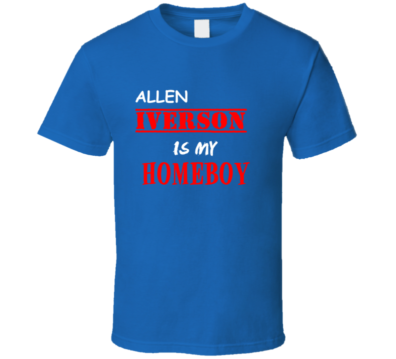 Allen Iverson Detroit Michigan Sports Homeboy T shirt