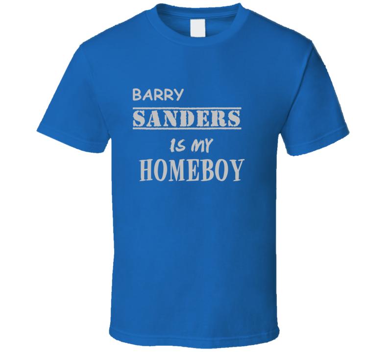 Barry Sanders Detroit Michigan Sports Homeboy T shirt